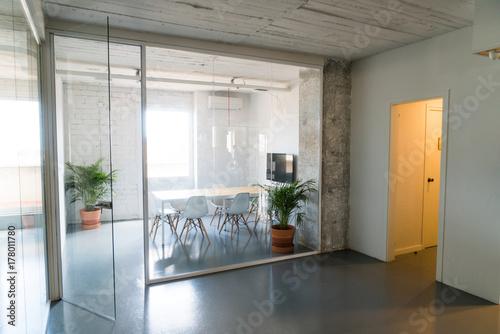 Interior of stylish modern office hall