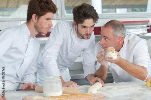 Fotografie, Obraz  pastry chefs in training