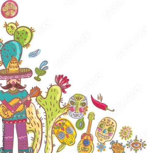 Fototapeta Mexico illustrations for beautiful design obraz na płótnie