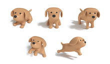 Five Acting Brown Dog Cartoon ...