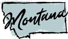 Hand Drawn Montana State Design