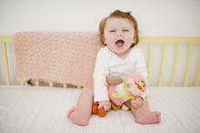 Cute Baby Girl Laughing In Cri...