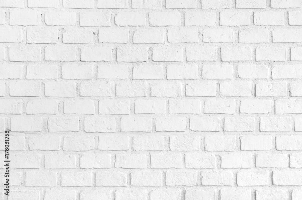 cr dence de cuisine en verre imprim white ordered brick wall texture background nikkel. Black Bedroom Furniture Sets. Home Design Ideas