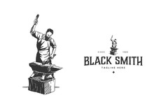 Black Smith Hand Drawn Style