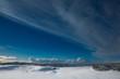 Islands Landschaft im tiefsten Winter