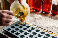 Pouring Maple Sugar Into Mold ...