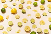 Sliced Fruit Lemon And Lime
