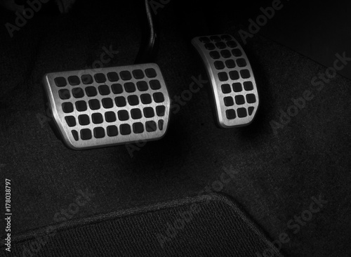 Photo Brake and accelerator pedal of automatic transmission car