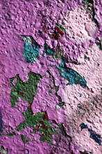 Cracking Old Paint On A Wall
