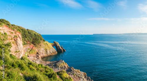 Poster Cote View of London Bridge rock formation in Torquay, South Devon, UK