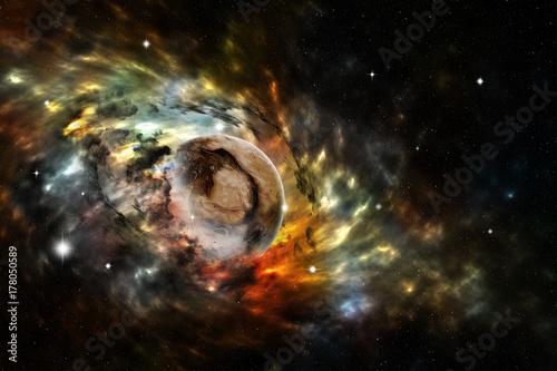 Fototapeta Scena wszechświata z gwiazdami planet i galaktykami. Elementy dostarczone przez NASA