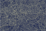 vector map of the city of London, Great Britain - 178056170