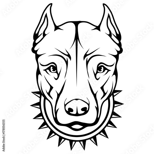 pit bull terrier icon Poster Mural XXL