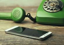Old Green Vintage Telephone Vs...
