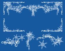 Winter Snow Design Set - Elega...