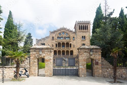 Entrance to Sanctuary of Santo Cristo in Pla, Igualada Canvas Print