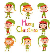 Set Of Cute Little Christmas G...