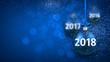 Blue shining 2018 New Year background.