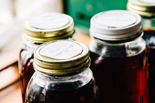 Jars Of Homemade Maple Syrup