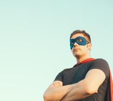 Superhero Man Against The Sky....