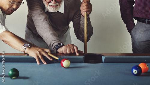 Billiard Ball Club Leisure Sport Shot Team Game Concept Fototapet