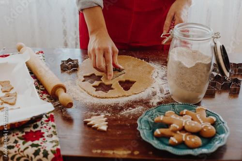 Fotografie, Obraz  Christmas cookies preparation