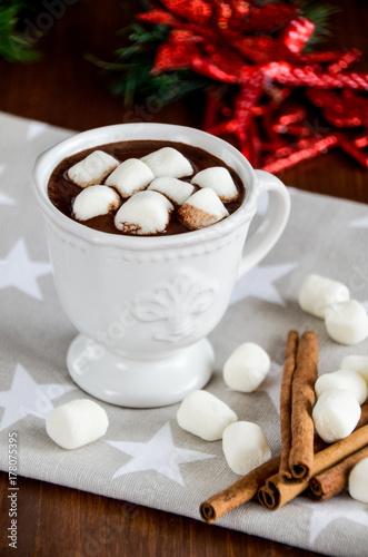 Plakat Boże Narodzenie na gorącą czekoladę