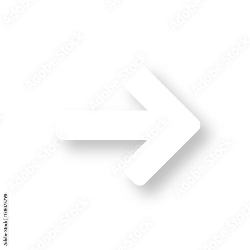 Photo Icon mit Schatten - Pfeil rechts - Auskunft