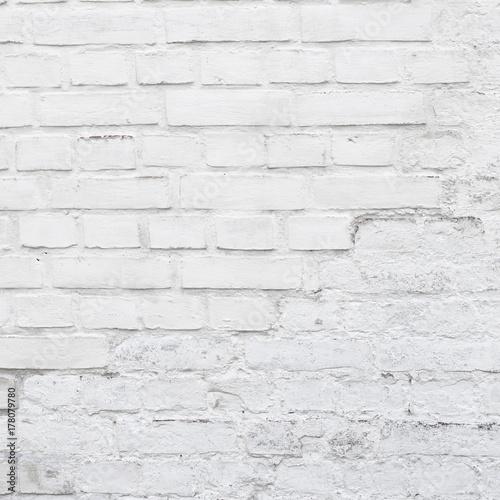 Photo  white brick wall background