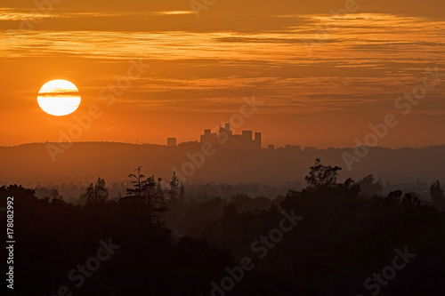 Plakat Zachód słońca nad Los Angeles