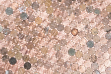 Coper American Pennies Patterned Background