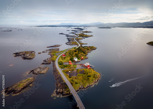 Storseisundet Bridge, Atlantic Ocean Road Norway Fototapeta