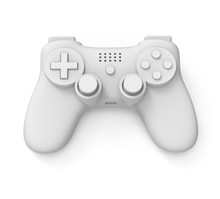 Video Game Controller On White...