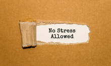 The Text No Stress Allowed App...