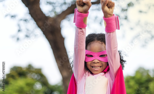 Платно Pink superhero girl