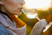 Close Up Of A Woman Tasting A ...
