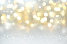 Christmas Background - Gold An...