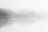 Black and White fine art lake with fog - 178104937
