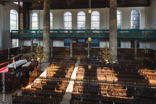 Plakat Synagoga Portugalska w Amsterdamie