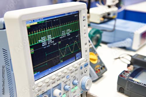 Fotografie, Obraz  Digital oscilloscope for mixed signals