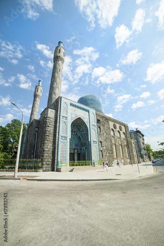 Plakat Meczet katedralny. Petersburg.