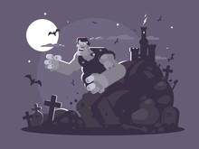 Frankenstein Cartoon Character