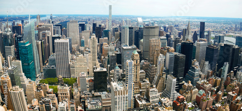 obraz PCV Manhattan Panoramic Aerial View