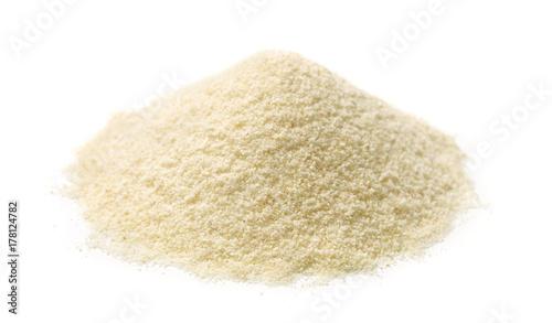 Pile of semolina flour