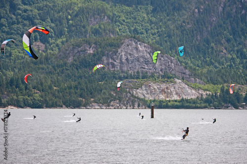 kitesurfers at Squamish, Canada