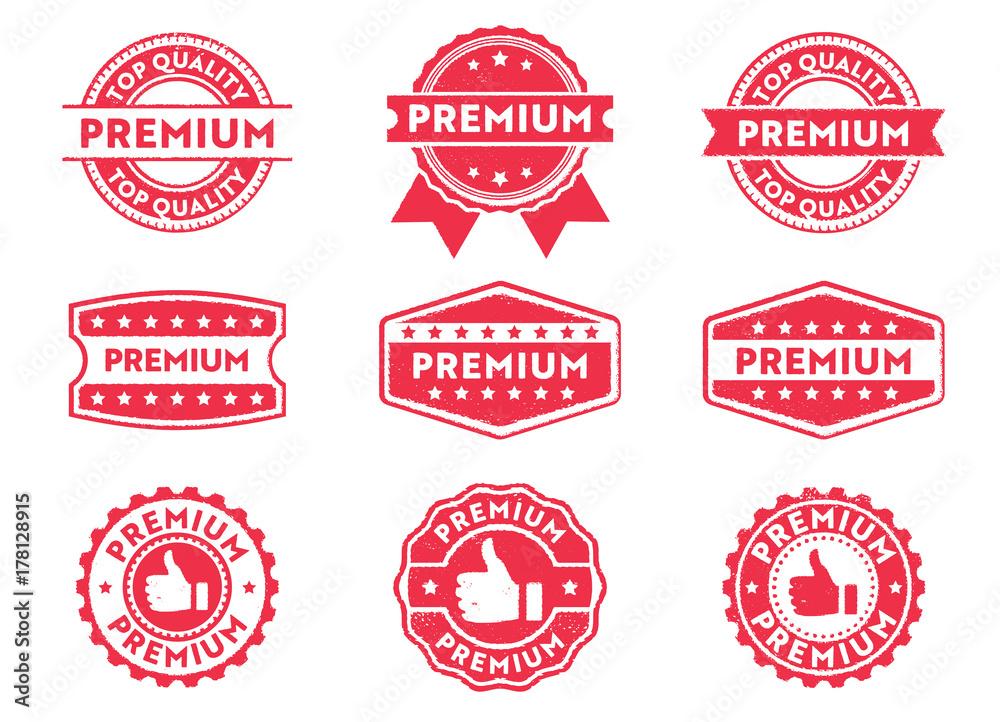 Fototapety, obrazy: premium grade stamp label