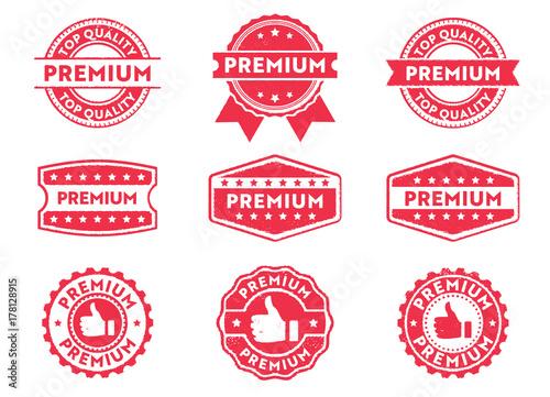 Canvas-taulu premium grade stamp label