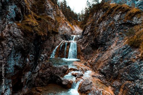 Plakat Wodospad w Austrii