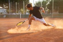 Professional Tennis Player Man...