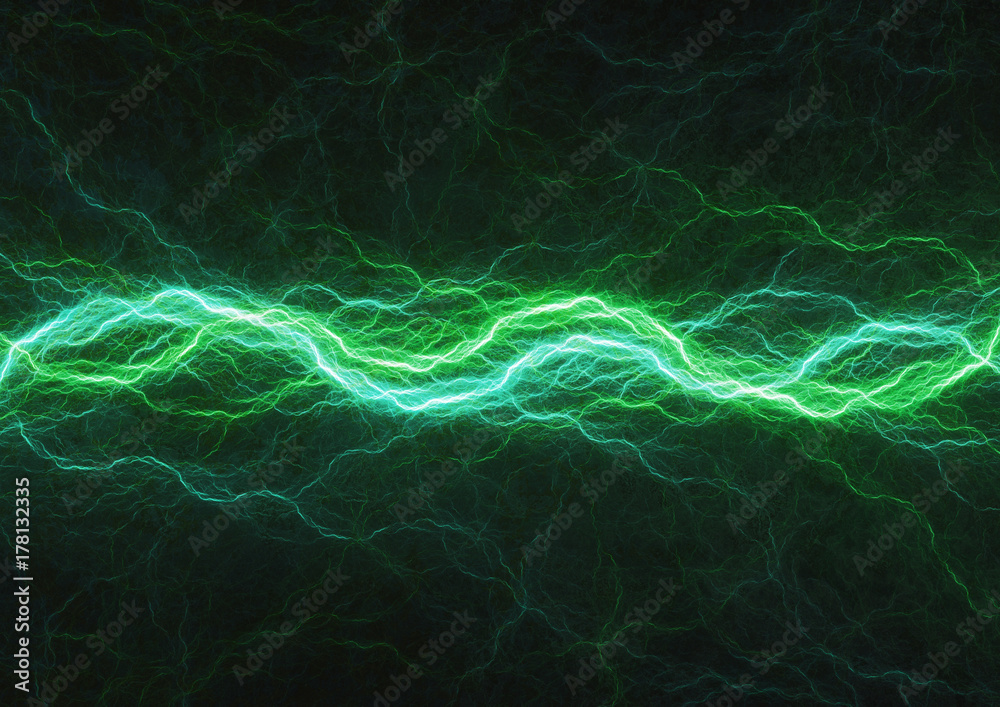 Fototapety, obrazy: Green power, abstract lightning